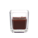 Jeco CVZ-042 Brown Square Glass Votive Candles (12pc/Box)
