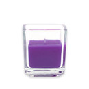 Jeco CVZ-043 Purple Square Glass Votive Candles (12pc/Box)