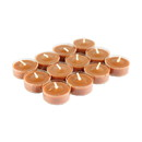Jeco CVZ-12PRLOL 12Pk Rain Lissed Oak Leaf Brown Tealight Candles
