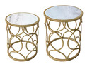 Jeco F-AT029 Set Of 2 Metal Side Table
