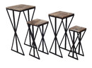 Jeco F-AT030 Set Of 4 Plant Stand