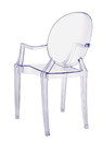 Jeco F-SF014 Clear Plastic Arm Chair