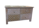 Jeco F-SF094 Wooden Cabinet With 4 Drawers