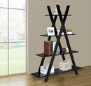 Jeco F1304-A 4 Tiers Cross Bookcase - Brown