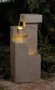 Jeco FCL039 Sand Stone Cascade Tires Outdoor/Indoor Lighted Fountain