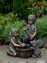 Jeco FCL066 Two Kids And Dog Outdoor/Indoor Water Fountain