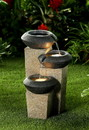 Jeco FCL159 Three-Tiered Modern-Style Illuminated Water Fountain