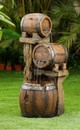 Jeco FCL171 Wood Barrel Fountain