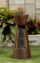 Jeco FCL174 Cascade Fountain With Flower Pot At Top