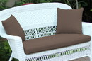 Jeco FS007-CL Brown Loveseat Cushion with Pillows