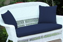 Jeco FS011-CL Blue Loveseat Cushion with Pillows