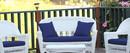 Jeco FS011-G 4Pc Midnight Blue Cushions Set