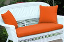 Jeco FS016-CL Orange  Loveseat Cushion with Pillows
