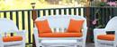 Jeco FS016-G 4Pc Orange Cushions Set