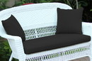 Jeco FS017-CL Black Loveseat Cushion with Pillows