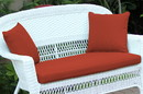 Jeco FS018-CL Red Orange Loveseat Cushion with Pillows