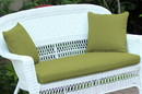 Jeco FS029-CL Green Loveseat Cushion with Pillows