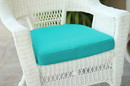 Jeco FS032-CS Turquoise Single Chair Cushion