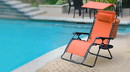 Jeco GC11 Oversized Zero Gravity Chair With Sunshade And Drink Tray - Orange