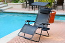 Jeco GC4 Oversized Zero Gravity Chair With Sunshade And Drink Tray - Black