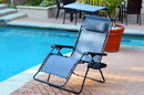 Jeco GC5 Oversized Zero Gravity Chair With Sunshade And Drink Tray - Blue