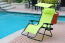 Jeco GC6 Oversized Zero Gravity Chair With Sunshade And Drink Tray - Lime Green