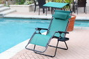 Jeco GC7 Oversized Zero Gravity Chair With Sunshade And Drink Tray - Green