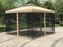 Jeco GZ2 10' X 10 'Metal Gazebo With Double Roof And Netting