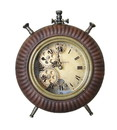 Jeco HD-C001-BR Brown Table Clock