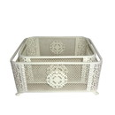 Jeco HD-HA0005-S Ornate White Basket (Small)