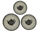 Jeco HD-HA057 Round Tray With Teapot Pattern (Set Of 3)