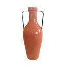 Jeco HD-HADJ048OR Large Orange Vase With Metal Handle