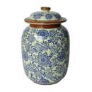 Jeco HD-HADJ051 Large Blue & White Pattern Lidded Jar