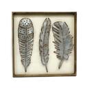 Jeco HD-WA043 Metallic Feathers Wall Decor