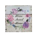 Jeco HD-WA078 How Sweet Home Flowers Plaque