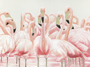 Jeco HD-WD037 36 X 48 Pink Egret Oil Painting Wall Decor