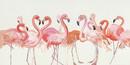 Jeco HD-WD038 28 X 55 Pink Egret Oil Paint Wall Decor