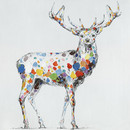 Jeco HD-WD040 32 X 32 Color Deer Collection I Oil Painting Wall Decor
