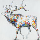 Jeco HD-WD041 32 X 32 Color Deer Collection Ii Oil Painting Wall Decor