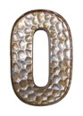 Jeco HD-WO003-O Honeycomb Patterned Letter O