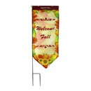 Jeco HVIF002A Harvest Flag With Stake-Welcome Fall