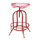 Jeco OF-BT004 Antique Red Metal Wire Counter Height Stool