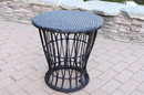 Jeco OF-ST006 Papasan Espresso Resin Wicker Side Table