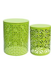 Jeco OF-ST007 S/2 Plant Stand Lime Green