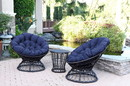 Jeco OFSC-FS011 Midnight Blue Cushion For Papasan Swivel Chair