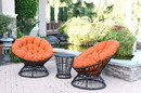 Jeco OFSC-FS016 Orange Cushion For Papasan Swivel Chair