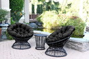 Jeco OFSC-FS017 Black Cushion For Papasan Swivel Chair
