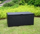 Jeco ORI003-D Black Wicker Patio Storage Deck Box