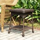 Jeco OTI001-A Espresso Wicker Patio End Table