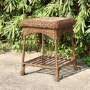 Jeco OTI001-C Honey Wicker Patio End Table